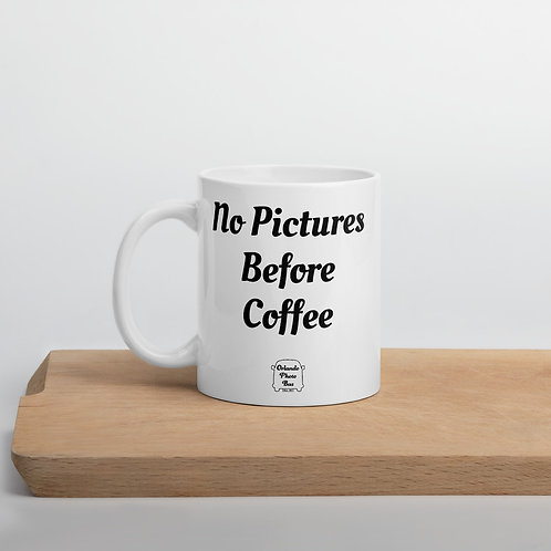 No Pictures Before Coffee - Mug