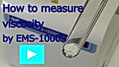 How to measur viscosity by EMS viscometer EMS-1000S