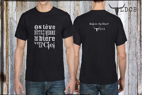 T-shirt '' On lève notre verre de bière... '' ( Laurence Doire )