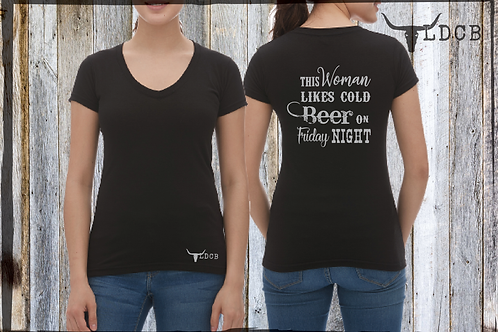 '' This woman likes cold beer... ( Laurence Doire )