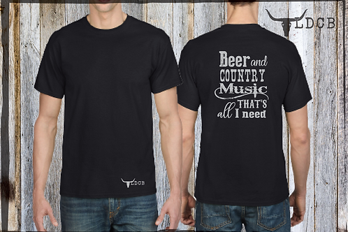T-shirt '' Beer and country music... ( Laurence Doire )