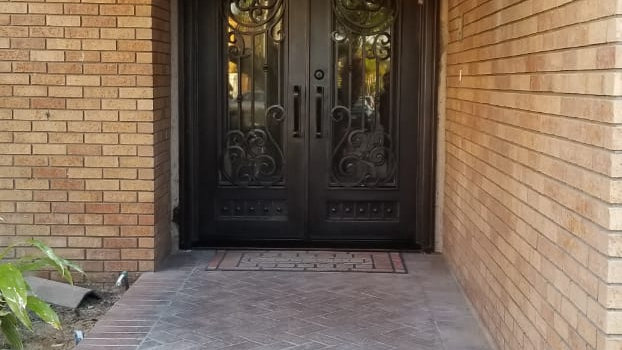 Double Iron Doors in Huntington Beach