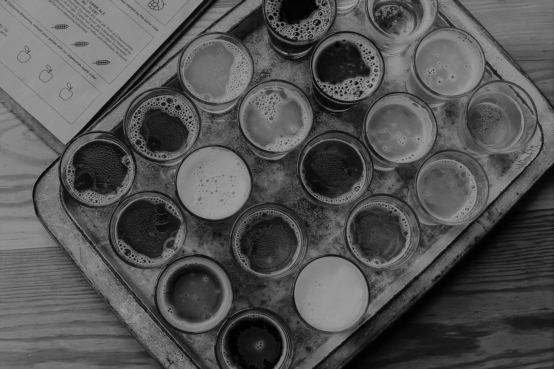 Beer Tasting BW