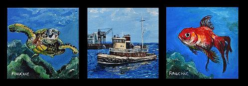 Marine Series Triptych