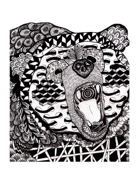 Zentangle Bear