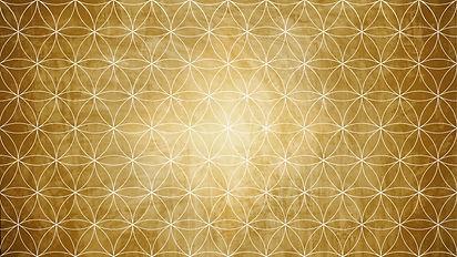 Sacred geometry in flower pattern shape