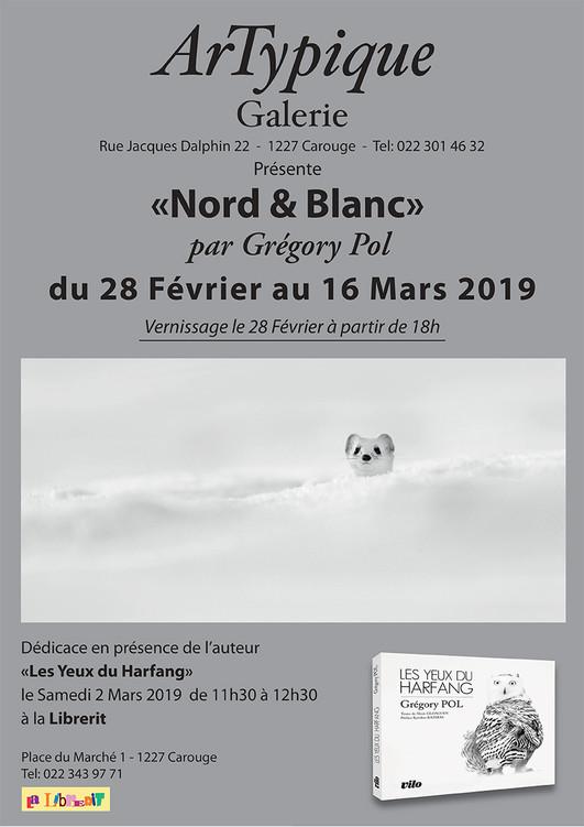 """""""ArTypique Galerie"""" présente   NORDet BLANC par Grégory POL."""