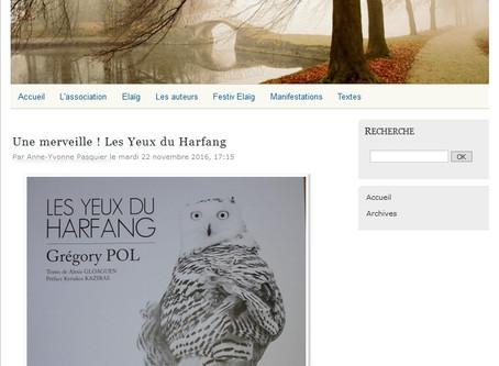 """Une merveille ! """"Les Yeux du Harfang"""" de Grégory POL"""