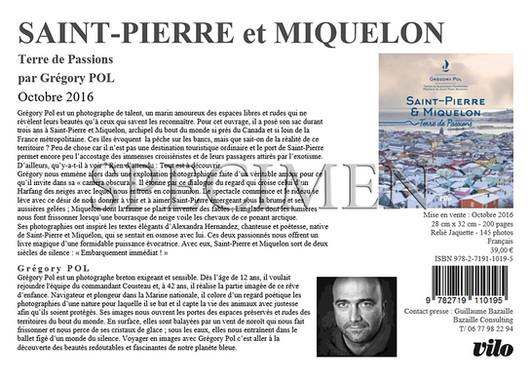 """Livre photographique """"Saint-Pierre et Miquelon, Terre de passions"""" aux Éditions VILO."""