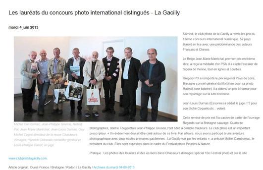 Primé au concours photo international peuples et nature de La Gacilly !