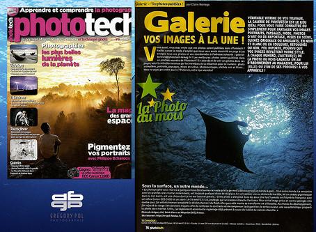"""""""Silhouette"""" : photo du mois dans le magazine Phototech."""
