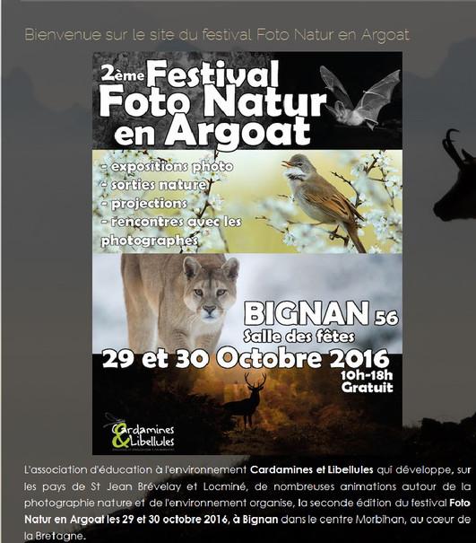"""Grégory POL expose au """"2ème Festival Foto Natur en Argoat""""."""