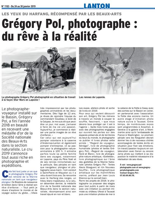 Grégory POL, photographe : du rêve à la réalité