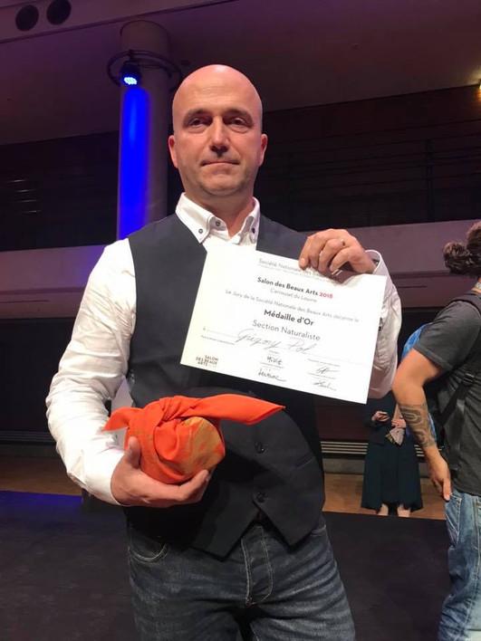 Médaille d'or de la Société Nationale des Beaux-Arts pour Grégory POL