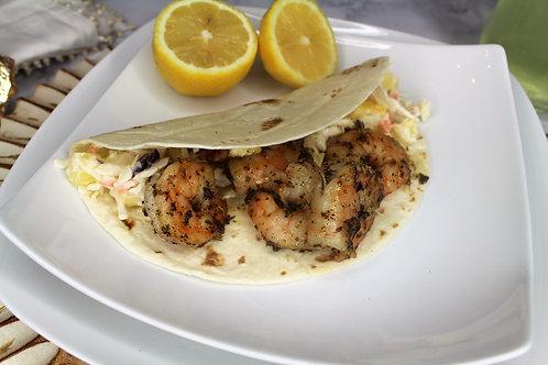 The Trini (Curry Shrimp Tacos)