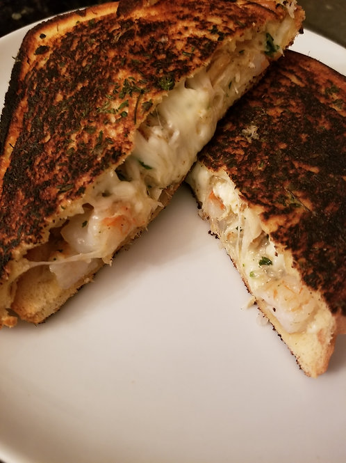 Crab and Shrimp Grilled Cheese