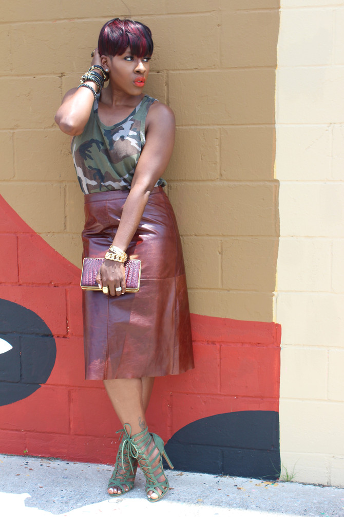 Camo + Leather