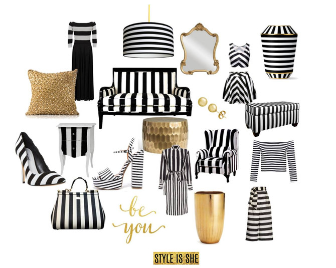 For the love of black and white stripes!