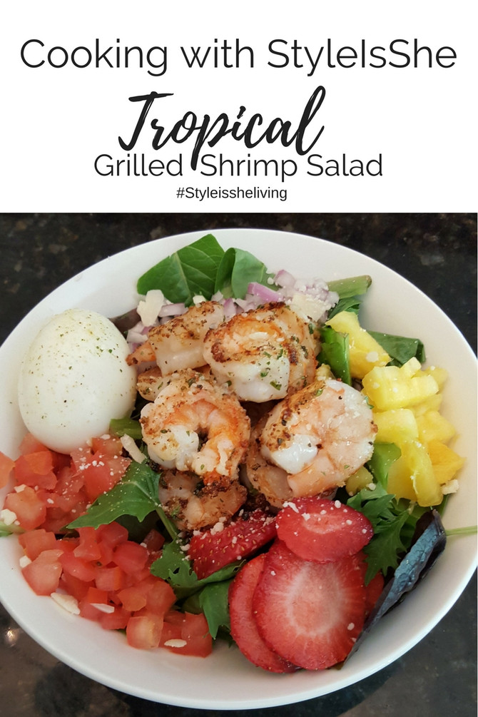 She Cooks: Tropical Grilled Shrimp Salad