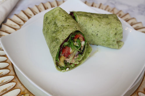 Grilled Salmon Wrap