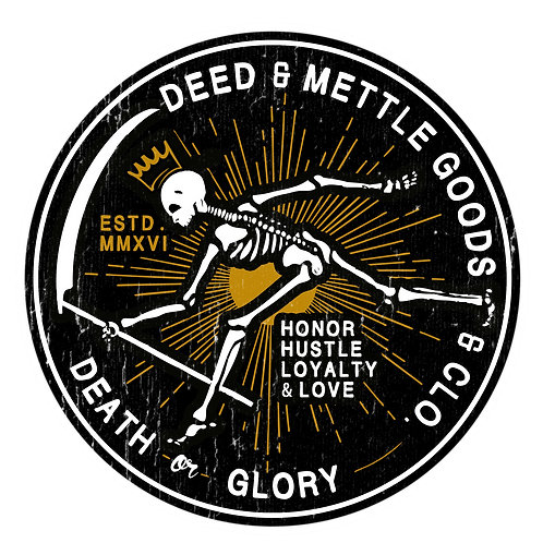 "'DEATH CHASER' | Death -or- Glory 3""x 3"" Sticker"