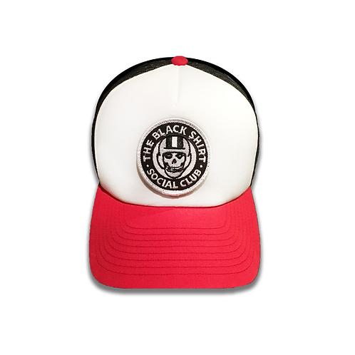 'FIENDS' | BLACK SHIRT SOCIAL CLUB | VELCRO PATCH FOAM FRONT PANEL SNAPBACK HAT