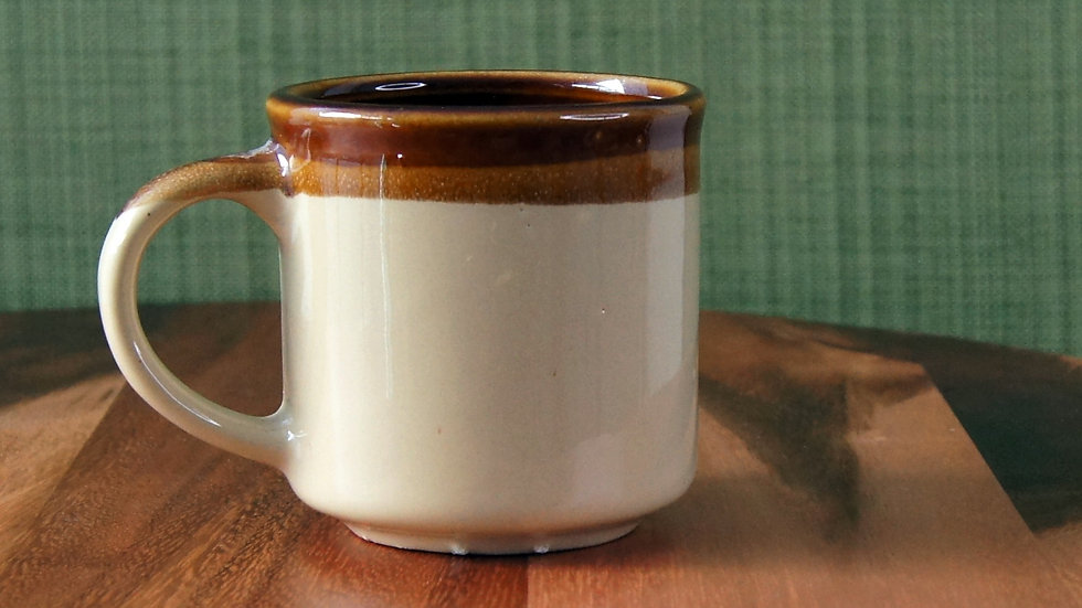 Vintage Ceramic Coffee Mug Brown