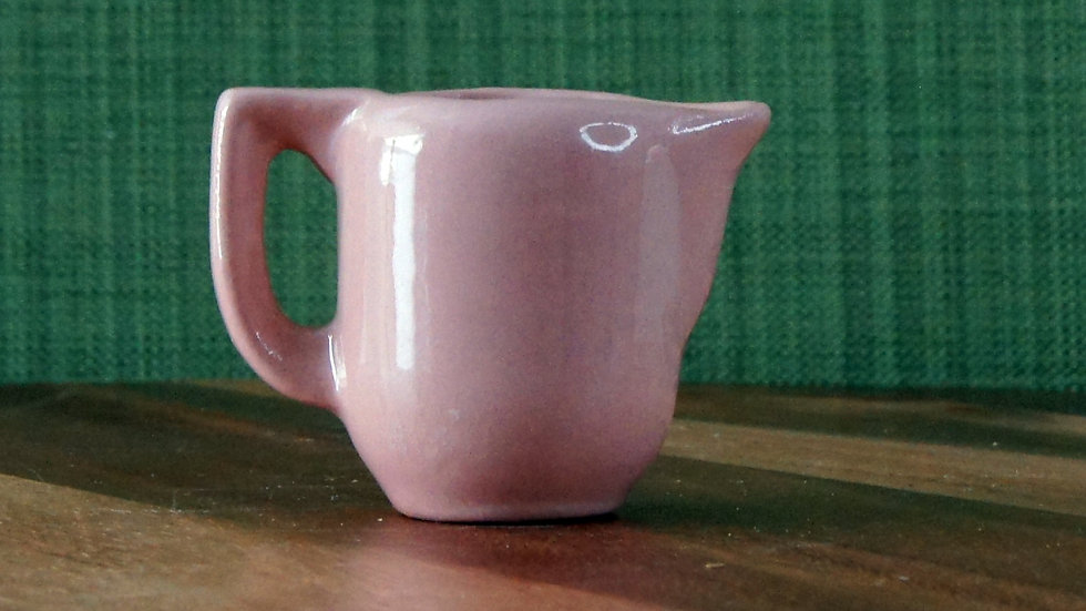 Vintage USA Pottery, Pink Pitcher, holds 1 oz
