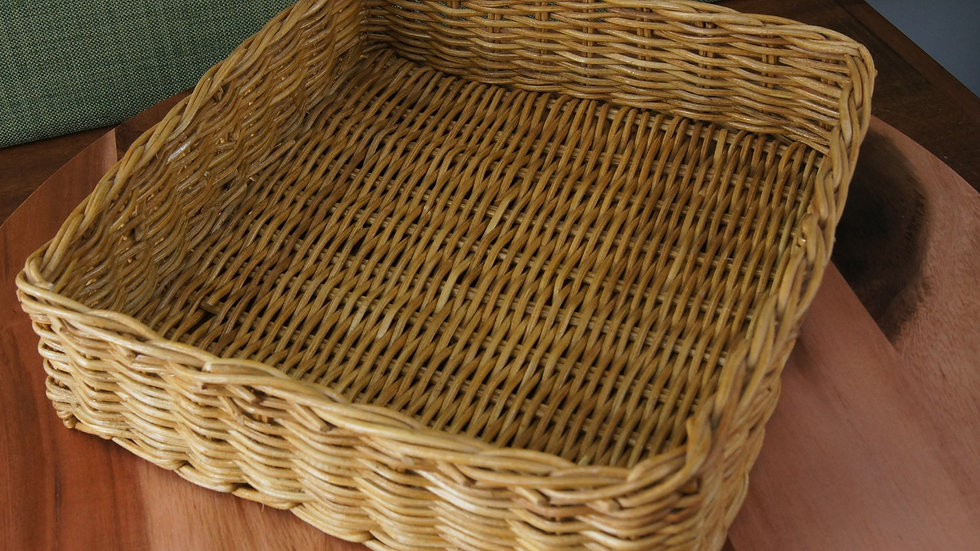 Boho Rectangle Basket with one Handle