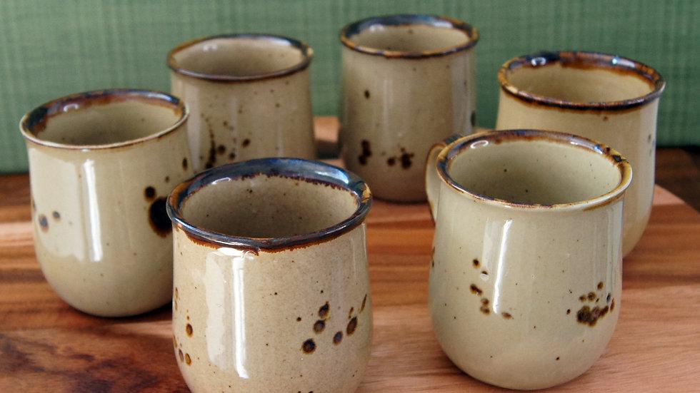 Vintage Ceramic Brown Speckled Mug