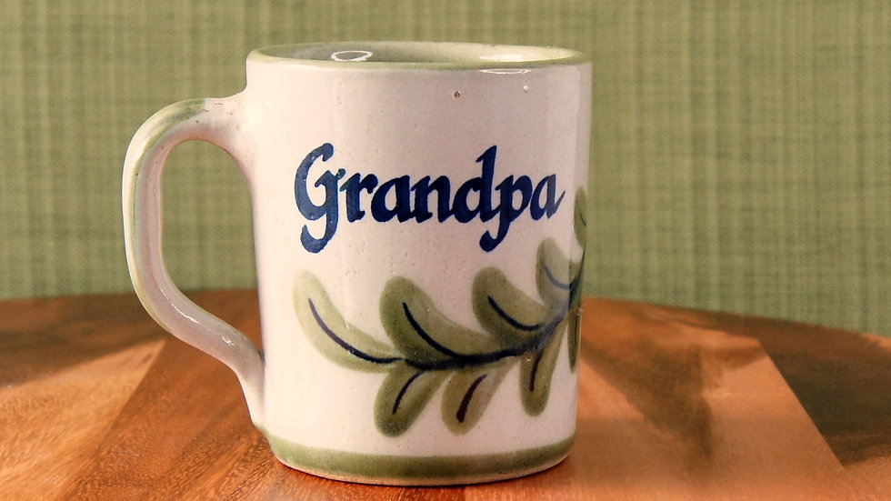 Vintage Handmade Ceramic Mug Grandpa