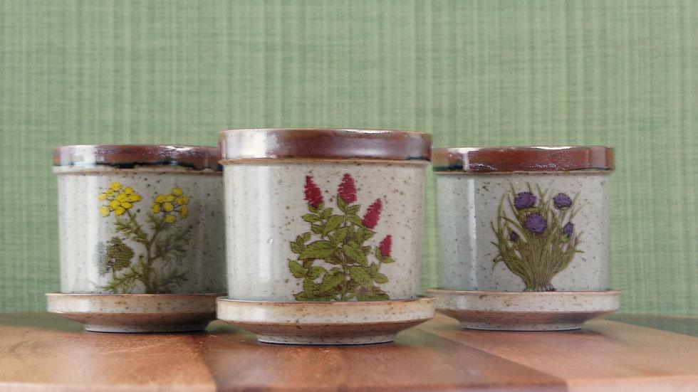 Set of Three Vintage, Japanese Takahashi Flower Pots