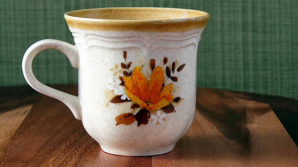 Vintage Mikasa Coffee Cup Mug Garden Club Flowerfest 80z