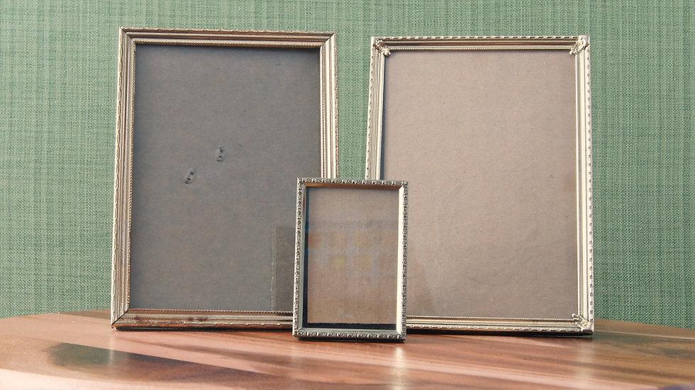 Set of Three Pressed Metal Frames