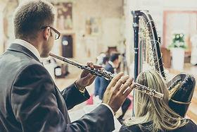 Flauto traverso arpa matrimono