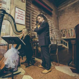 Arpa classica e flauto traverso