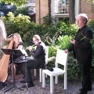 Arpa classica, flauto traverso e tenore
