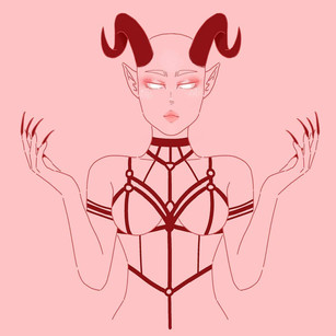 Demons in lineart