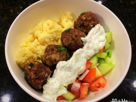 Greek Meatballs & Couscous