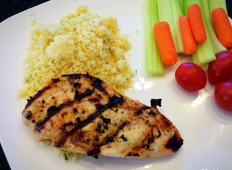 Grilled Italian Chicken & Parmesan Couscous