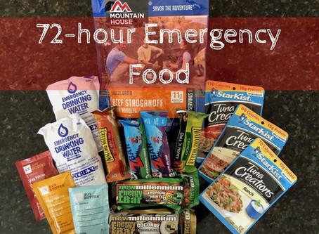 Preparedness: 72-Hour Emergency Food