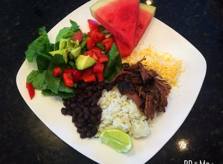 Easy Shredded Beef Burrito Bowls