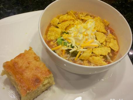 Chicken Tortilla Soup & Cornbread