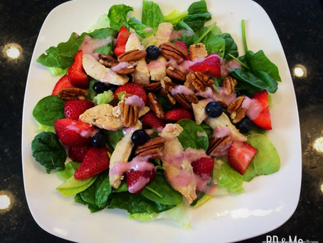 Chicken Nuts & Berries Salad