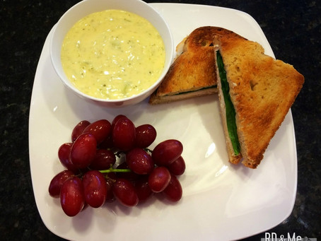 Baked Turkey & Cheese Sandwich with Soup