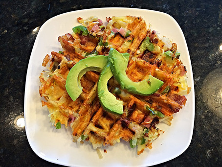 Hearty Hash Browns Waffles