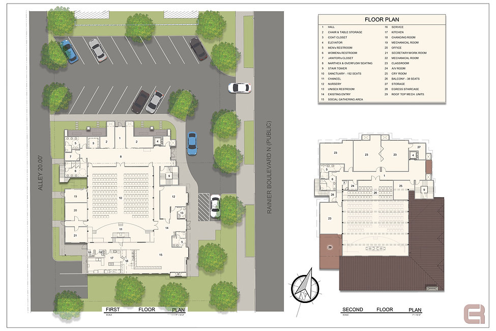 Summit Life Church - Colored floor plans