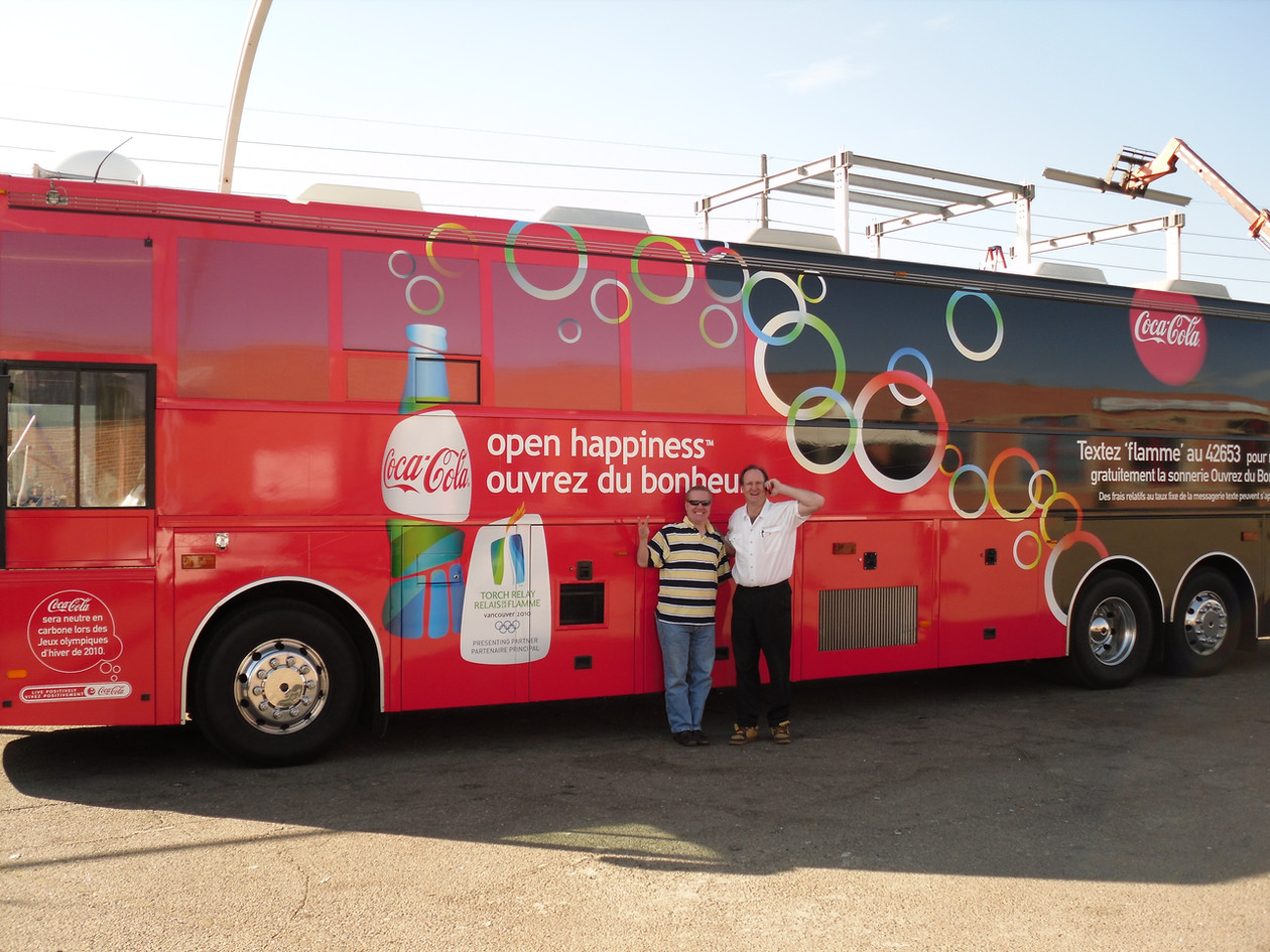 Olympic Torch Bus