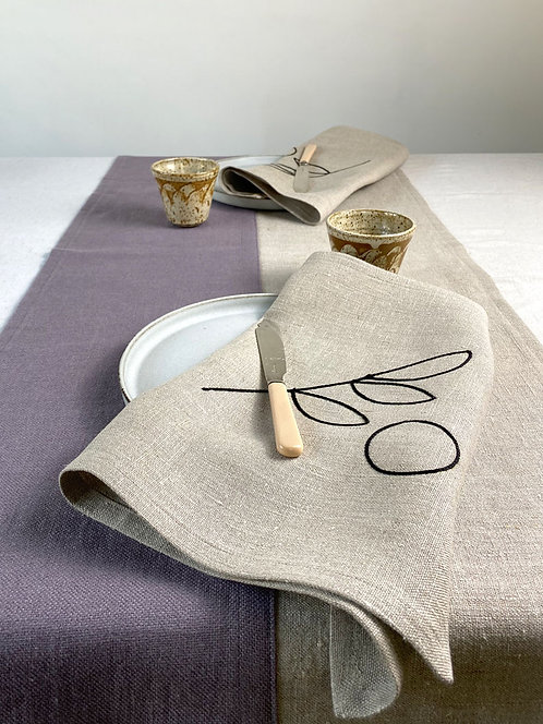 Putty and Natural, two-tone Table Runner