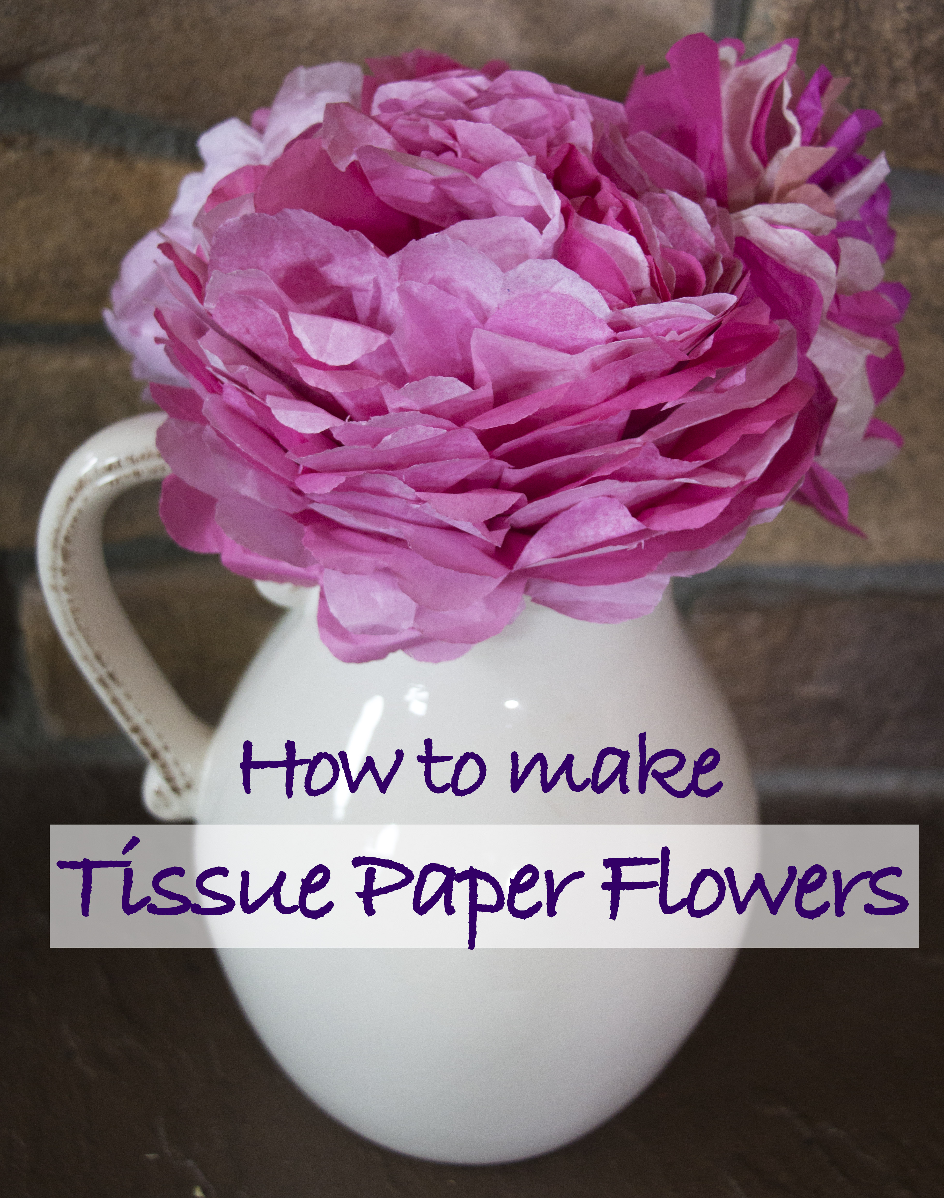 Diy Tissue Paper Flower Tutorial Moosemischief